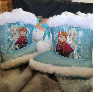 Disney frozen slipper boots